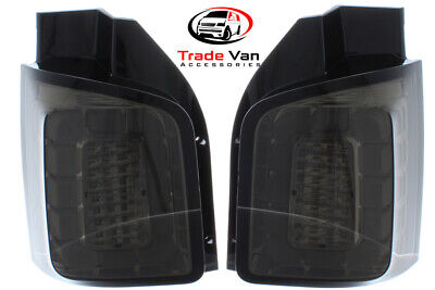 Vw T6 15>Transporter Taillights Twin Barn Door Style Smoked Led Rear Tail Lights