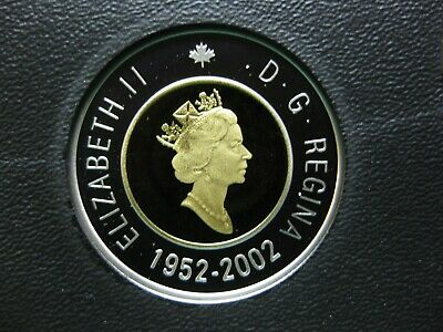 2002 Canadian Silver Proof Toonie ($2.00) **Key Date**  Double-Date 1952-2002