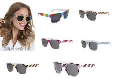 Gay Pride Sunglasses Retro Duo Pack Rainbow Drifter with 2 x Wristbands LGBT
