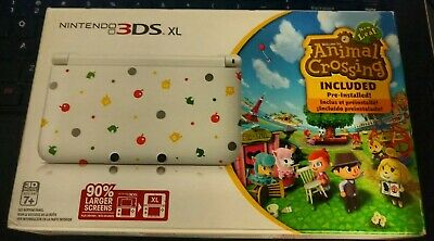 Nintendo 3DS XL Animal Crossing New Leaf Limited Edition System + Game Bundle