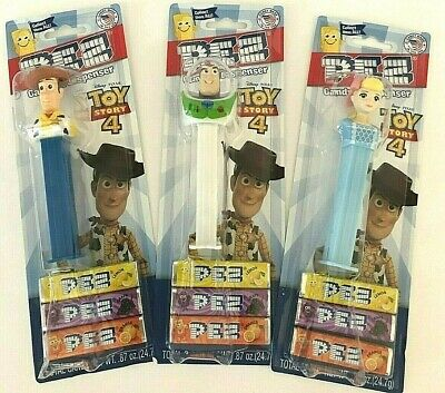 Disney Toy Story 4 Pez Dispensers Buzz Lightyear Woody Bo-Peep Candy New Lot