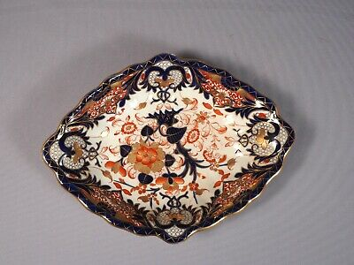 Bloor Derby Royal Crown Duesbury Porcelain IMARI ANTIQUE 1800s Dish Platter Tray