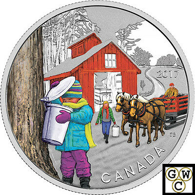 2017 'Sugar Shack' Colorized Proof $10 Silver Coin 1/2oz .9999 Fine (18064) (NT)