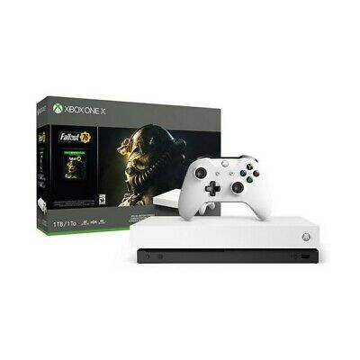 Xbox One X + Fallout 76 Sony 53518 1 TB 4K HDR Bianco