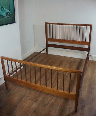 Vintage Retro Solid Teak Danish Double Bed Frame Mid 20thc 1950s 60s