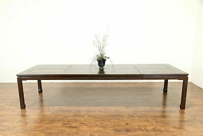 Chinese Lacquer Dining Table 3 Leaves, Extends 11,' Signed Widdicomb 1990 #31080