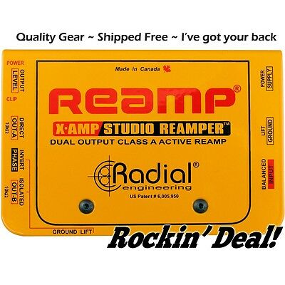 Radial XAmp Active Re-Amplifier Class-A Dual Output X-amp Fedex 2 Day Delivery!