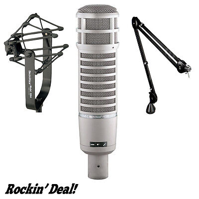 Electro Voice RE20 w/ 309A Shock Mount Rode PSA1 EV RE20 RADIO STUDIO MIC BUNDLE