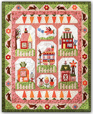 Bunny Town COMPLETE Applique Pattern & Accessory Pack Quilt Company Rabbit BOM