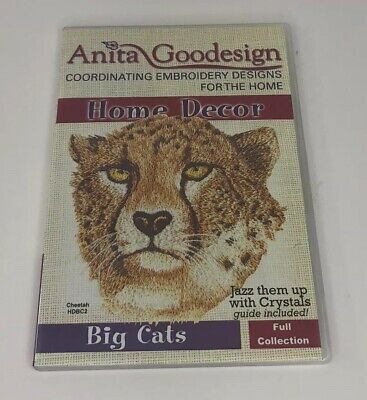 Anita Goodesign Embroidery CD Home Decor Big Cats Full Collection