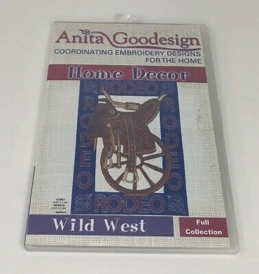 Anita Goodesign Embroidery CD Home Decor Wild West Full Collection
