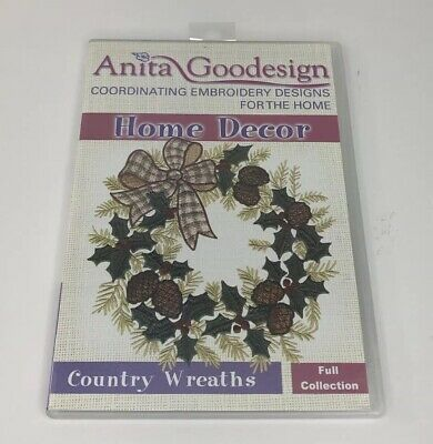 Anita Goodesign Embroidery CD Home Decor Country Wreaths Full Collection