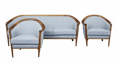 1960's SWEDISH TEAK 3 PIECE SUITE BY BRODERNA ANDERSSON