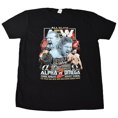 AEW Event Exclusive DOUBLE OR NOTHING Jericho vs Omega XL T-Shirt *Brand New*