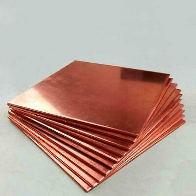 1pcs 99.9% Pure Copper T2 Cu Metal Sheet Plate Copper Sheet Bar Thick 0.8mm-5mm