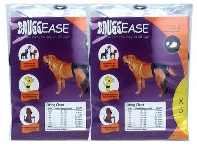 2 Pack SnuggEase Protective Pants for Dogs SIZES SMALL