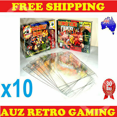 10x Thick GAME BOX PROTECTORS Cases For Super Nintendo SNES & Nintendo N64 Boxed