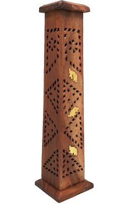 Handmade Wooden Incense Tower Stand Home Fragrance - Elephant