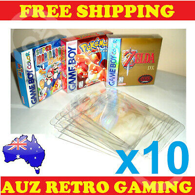 10x Thick GAME BOX PROTECTORS Cases Nintendo GameBoy / Color / Advance BOXED