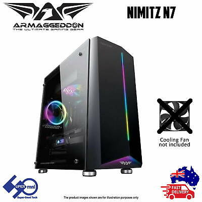 Gaming PC Case Tempered Glass Window ATX Tower ARMAGGEDDON NIMITZ N7
