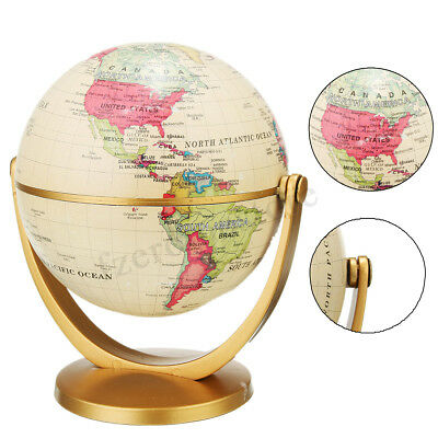 360° Rotating World Globe Earth Atlas Map Geography Education Toy Desktop Gift