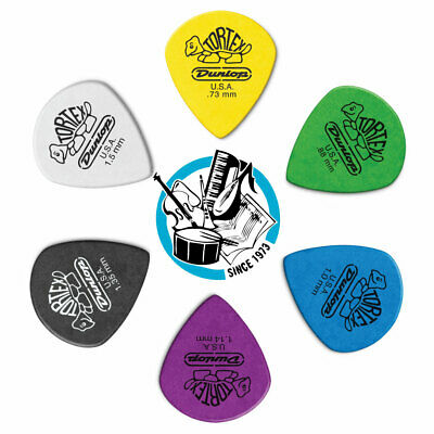 6 X Jim Dunlop Tortex Jazz 3 XL Variety Guitar Picks III *NEW* 498R Mixed