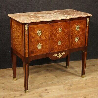 Dresser chest of drawers antique style Louis XVI commode furniture wood marble