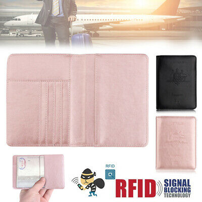 New PU Leather RFID Blocking Passport Travel Wallet Holder ID Cards Cover Case