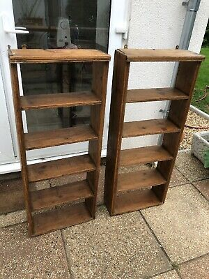 Victorian Pine Countryhouse Open bookcase, Matching Pair ,Stated Price Is For 1