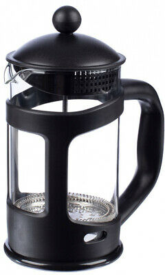 8-Cup Plastic Black Cafetiere Large Capacity Coffee Maker Heat Resistant Glass