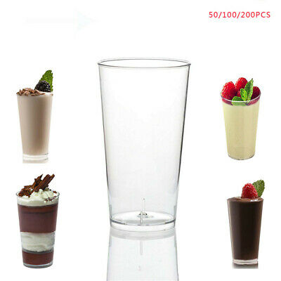 50/100 Mini Plastic Dessert Cups 3oz Drink Shooters Jelly Cups Shot Party