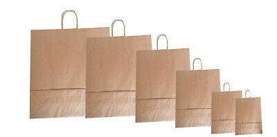 Brown Twist Handle Paper Party and Gift Carrier Bag / Bags S / M / L / XXL / XXL