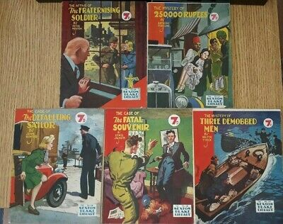 5x Sexton Blake Library 3rd Series (2) comic magazine war ian fleming pan pulp