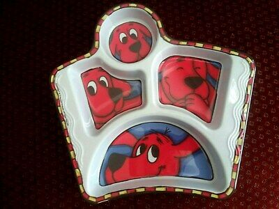Clifford Big Red Dog Plastic Divided Dish Excellent