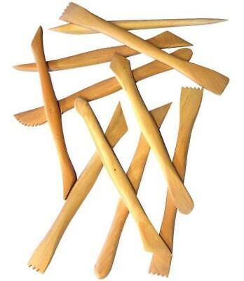 Wooden Clay Modelling Knives - Set of 10 - MAJOR BRUSHES