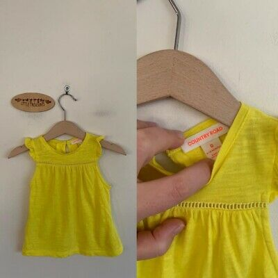 Sz 0 Country Road Yellow Flutter Top