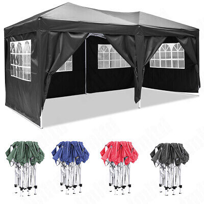 3x3m 6x3m Garden Pop Up Gazebo Marquee Party Tent Wedding Canopy Waterproof New