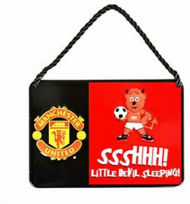 Manchester United FC Official  Metal Football Mascot Bedroom Sign NEW