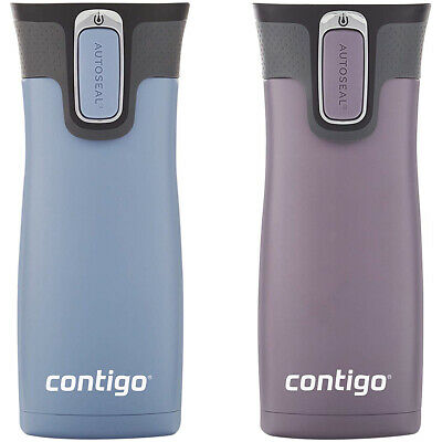 Contigo 16 oz. West Loop Autoseal Travel Mug 2 Pack - Earl Gray/Dark Plum