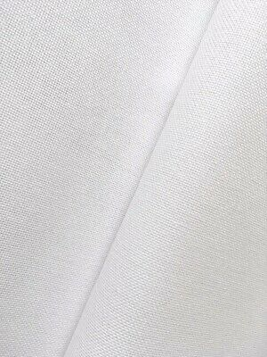 White Linda 27 Count Zweigart even weave fabric - various size options