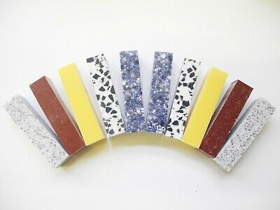 Corian® Woodturning Pen Blanks, PATTERN 10 x 52mm Long, Pack of 10 all the same