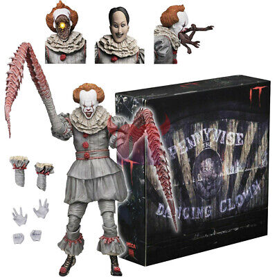 """NECA IT Pennywise The Dancing Clown 2017 Ultimate 7"""" Action Figure 1:12 Scale"""