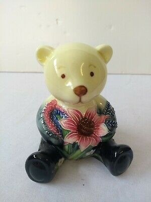 Old Tupton Ware Floral Small Porcelain Teddy Bear Ornament #CL