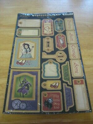 Graphic 45 The Magic of Oz Die Cut Chipboard Tags #2 Wizard Of Oz