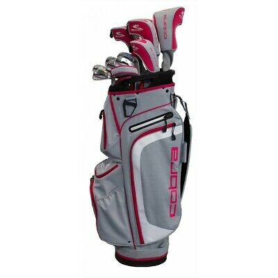 Cobra Women's XL Complete Package Set Silver/Pink Ladies Graphite Shafts