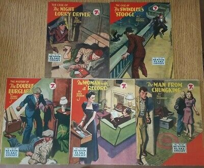 5x Sexton Blake Library 3rd Series (4) comic magazine war crime ian fleming pan