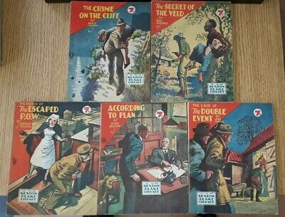 5x Sexton Blake Library 3rd Series (6) comic magazine war crime ian fleming pan