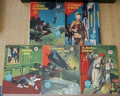 5x Sexton Blake Library 3rd Series (7) comic magazine war crime ian fleming pan