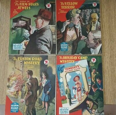 4x Sexton Blake Library 3rd Series comic magazine war crime ian fleming pan pulp