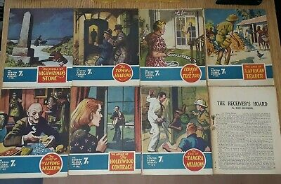 8 x Consecutive Sexton Blake Library comic magazine war crime thriller vintage